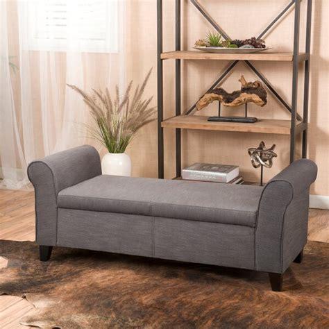 alcott hill varian upholstered storage bench reviews