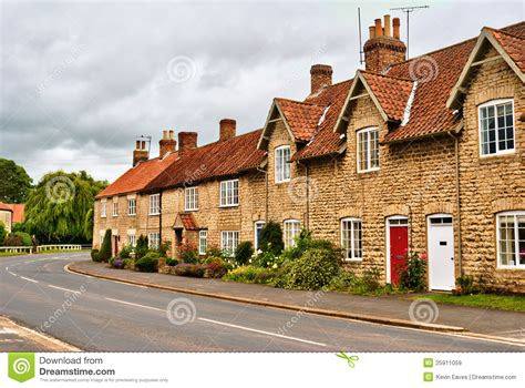 Quaint Row Of English Village Houses Stock Image Image