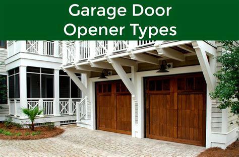The Three Different Types Of Garage Door Openers