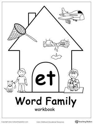 et word family workbook for kindergarten kindergarten