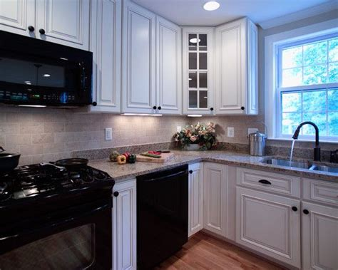 white kitchen cabinets and black appliances white kitchen with black appliances design pictures 2048