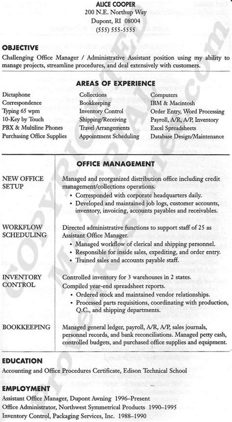 Office Manager Resume by Office Manager Resume Office Manager Resume Tips Raised