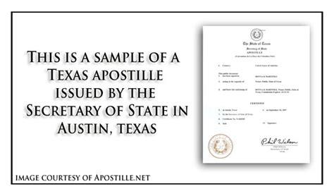 texas apostille apostille service  apostillenet