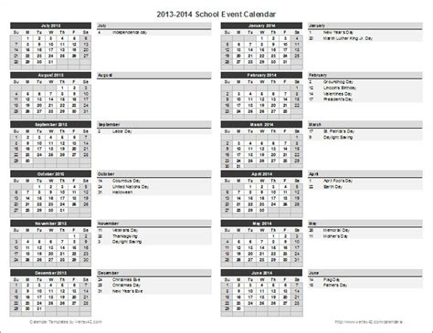 school calendar template event calendar template excel
