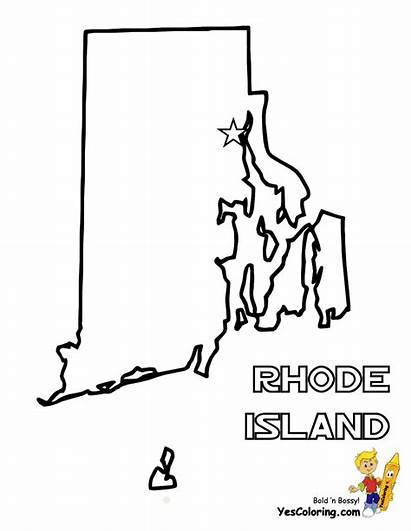 Rhode Island Map State Pages Coloring Maps