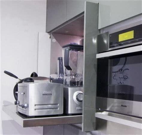 small kitchen appliance storage 40 appliance storage ideas for smaller kitchens 5409