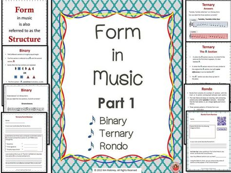 form in binary ternary and rondo student qr
