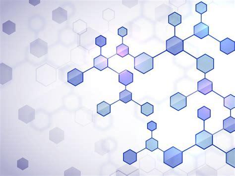 creative medical background  glossy flat molecules