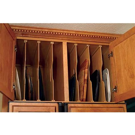 kitchen cabinet cookie sheet organizer another cabinet should tray dividers for baking pans 7756