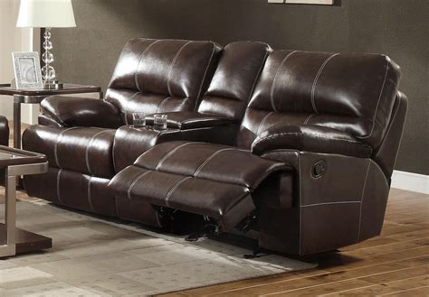 Motion Leather Sofa Theodore Brown Motion Leather Sofa W