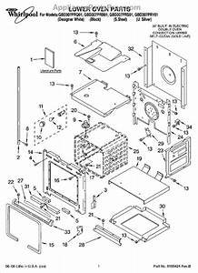 Parts For Whirlpool Gbd307prs01  Lower Oven Parts