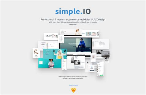 simpleio web  commerce ui kit  sketch freebiesui