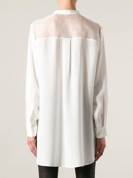 mandarin collar blouse joseph mandarin collar blouse in white lyst