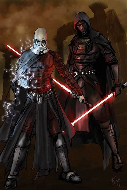 Revan Malak Darth Wars Deviantart Jedi Sith