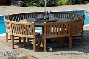 Table Ronde En Teck : salon de jardin table ronde en teck ~ Teatrodelosmanantiales.com Idées de Décoration