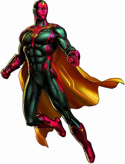 Vision Marvel Avengers Alliance Transparent Heroes Ultron
