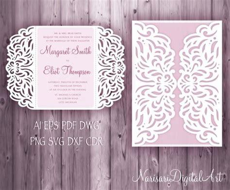 Wedding Invitation 5x7'' Gate Fold Card Template