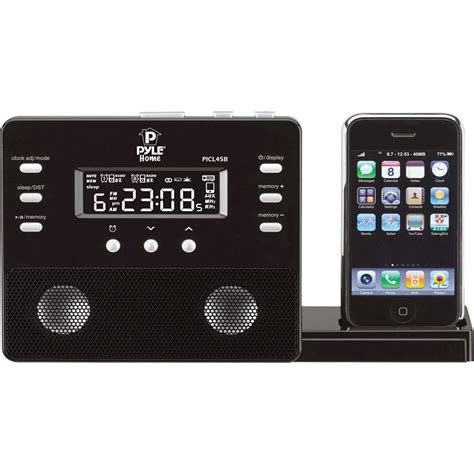 iphone alarm clock pyle home enhanced ipod iphone alarm clock speaker picl45b b h