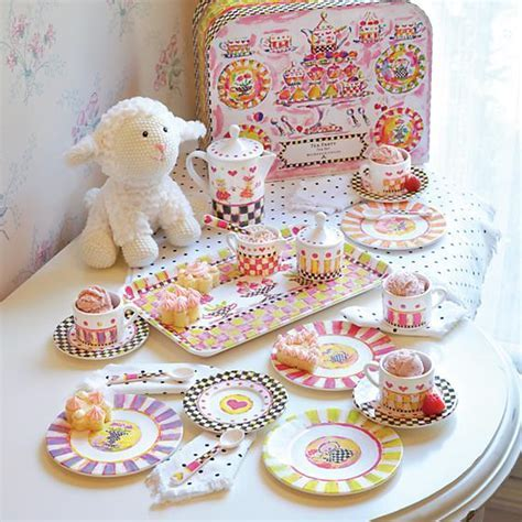 MacKenzie Childs   MacKenzie Childs   Tea Party Tea Set
