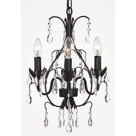 Small Black Chandelier by Shop Gallery Versailles Three Light Black Indoor