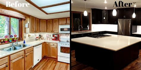 redo kitchen cabinets before and after galley kitchen remodel before and after on a budget 9206