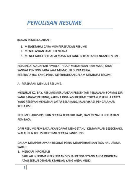 Cara Resume by Kuliah Etikombis Pembuatan Resume