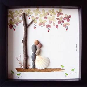 unique wedding gift for couple wedding pebble art unique With gift for wedding couple