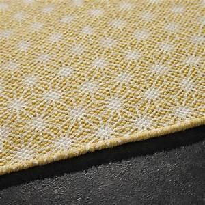 Tapis Jaune Maison Du Monde : tapis en coton jaune moutarde 140 x 200 cm tapis en ~ Zukunftsfamilie.com Idées de Décoration