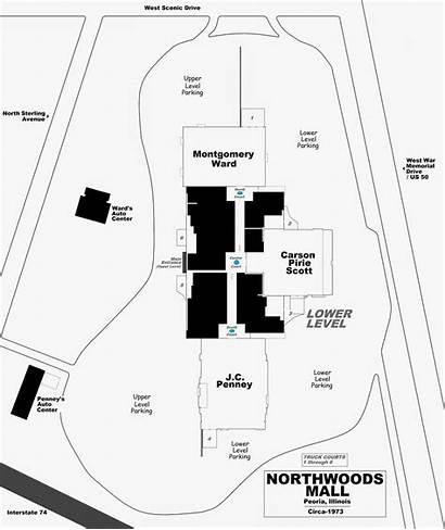 Northwoods Mall Layout Fame Hall