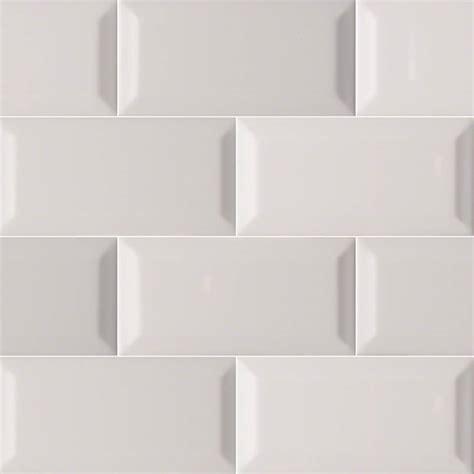 subway tile gray glossy subway tile beveled 3x6