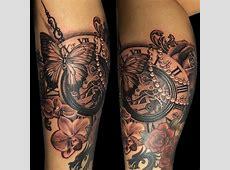 Tatouage Sablier Avec Horloge Printablehd