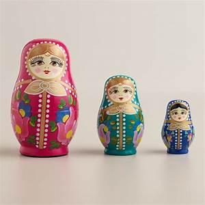Russian Nesting Dolls, Set of 3 World Market