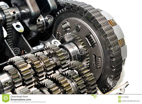 Motorcycle Clutch With Drive Chain And Gears. Stock Image