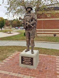 Female Military Soldier Statue