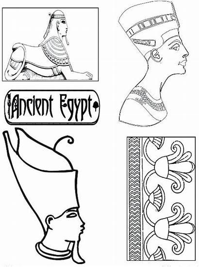 Coloring Hieroglyphics Egypt Pages Egyptian Ancient Mesopotamia