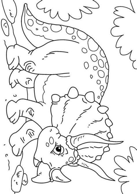 malvorlage dinosaurier triceratops bilder fuer schule