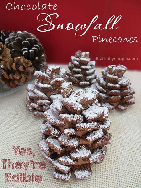 edible chocolate pinecones recipe  freshly fallen snow easy show stopping recipe
