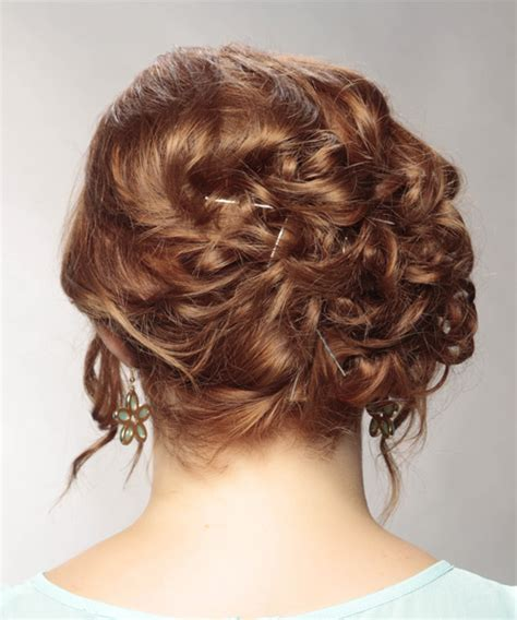 Formal Hairstyles On The Side by Curly Light Updo With Highlights