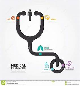 Infographics Vector Medical Design Stethoscope Diagram