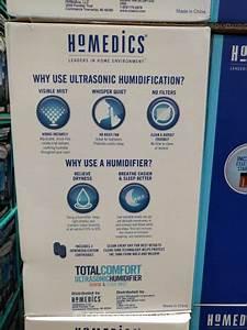 Homedics Ultrasonic Humidifier Model Uhe