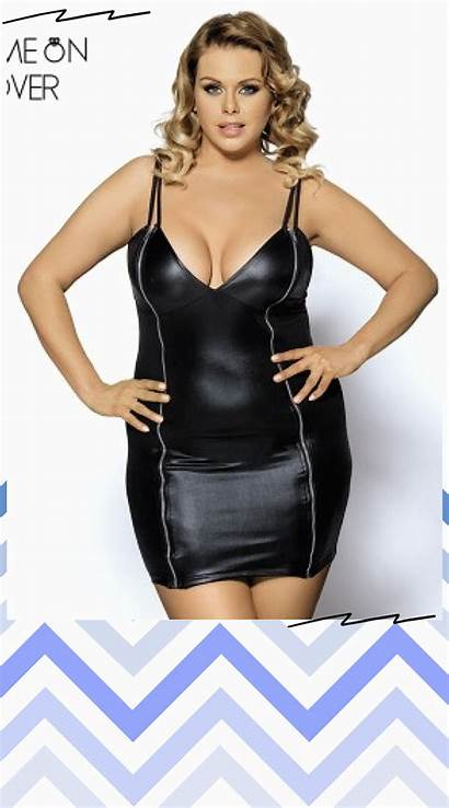 Leather Dresses Clothes Neck Casual Outfits Lingerie