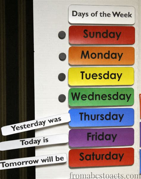 home preschool calendar board from abcs to acts 496 | teaching the days of the week with a preschool calendar board