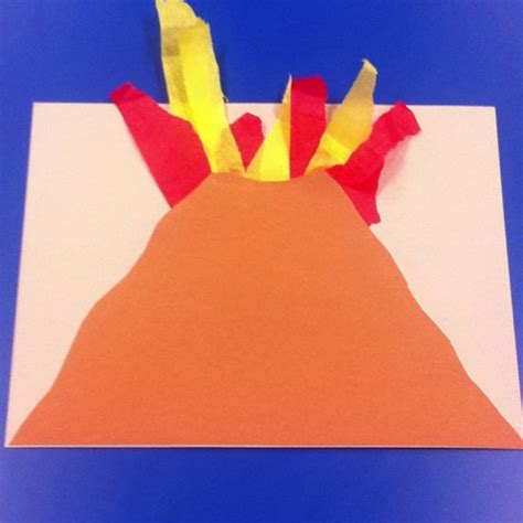 volcano craft to go along with dads we had the 474 | 4c0d77ab23741695afdf6a68d87d92be