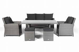Lounge Set Mit Esstisch : lucy rattan lounge gartenm bel tisch set mix grau ~ Bigdaddyawards.com Haus und Dekorationen