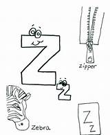 Coloring Words Zipper Alphabet Different Printable Getcolorings Colorings Colouring Getdrawings sketch template