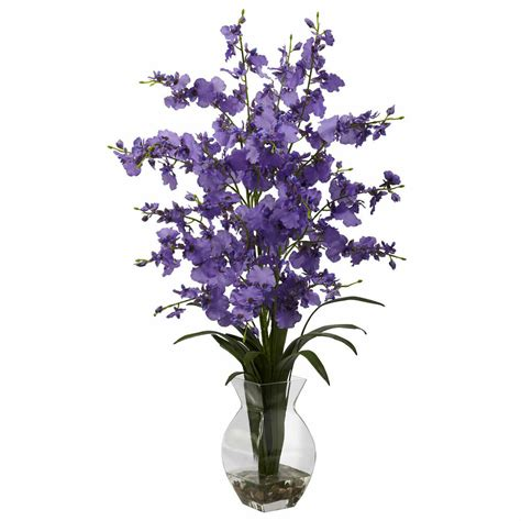 25 tall purple orchid silk floral artificial flower