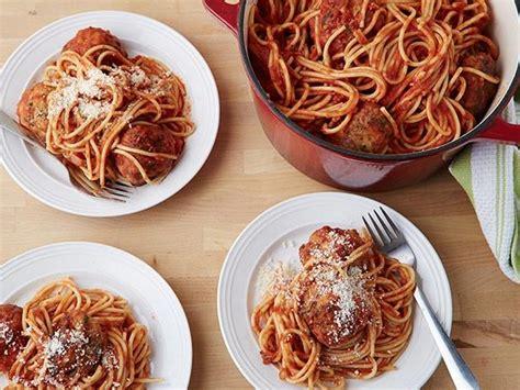 spicy turkey meatballs  spaghetti recipe ina garten