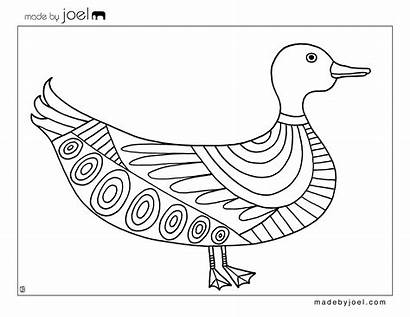 Coloring Duck Sheet Printable Template Sheets Goat