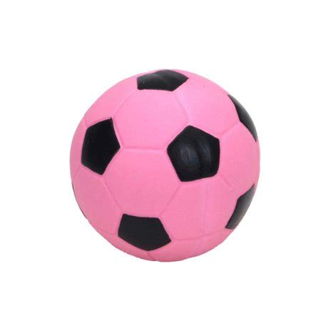 rascals latex   soccer ball dog toy  pink soccer