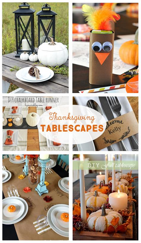 diy decorations diy thanksgiving tablescapes the crafting